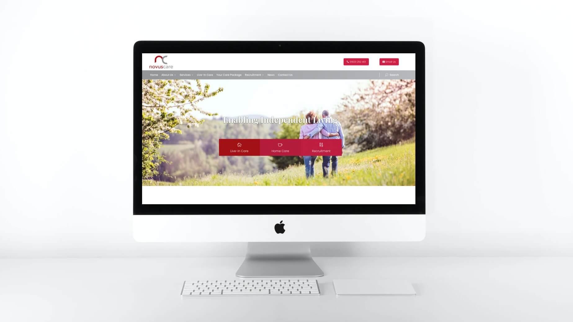 Novus Care Website Design